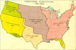 Western Expansion In The S Home - Map of the us in 1800